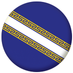 Champagne-Ardenne Province Flag 58mm Mirror Keyring